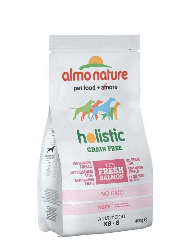 Holistic Grain Free with fresh Salmon XS / S from Almo Nature 400 g, 2 kg buy online