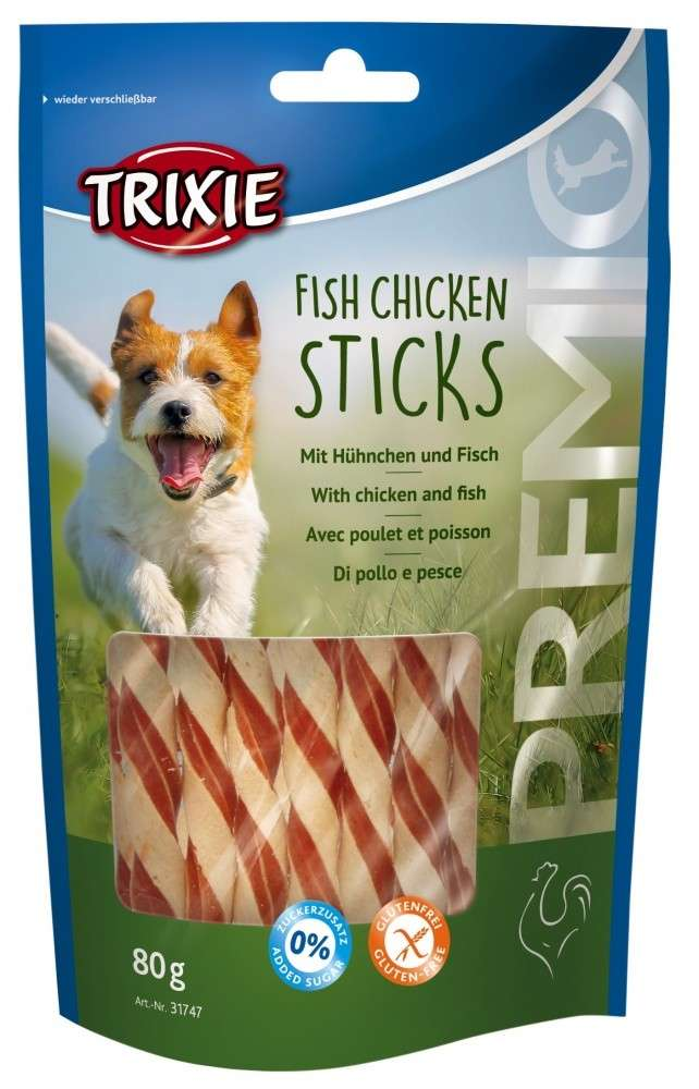 Chewing Sticks, Rolls and Strips Premio Fish Chicken Sticks 80g by Trixie Buy fair and favorable with a discount