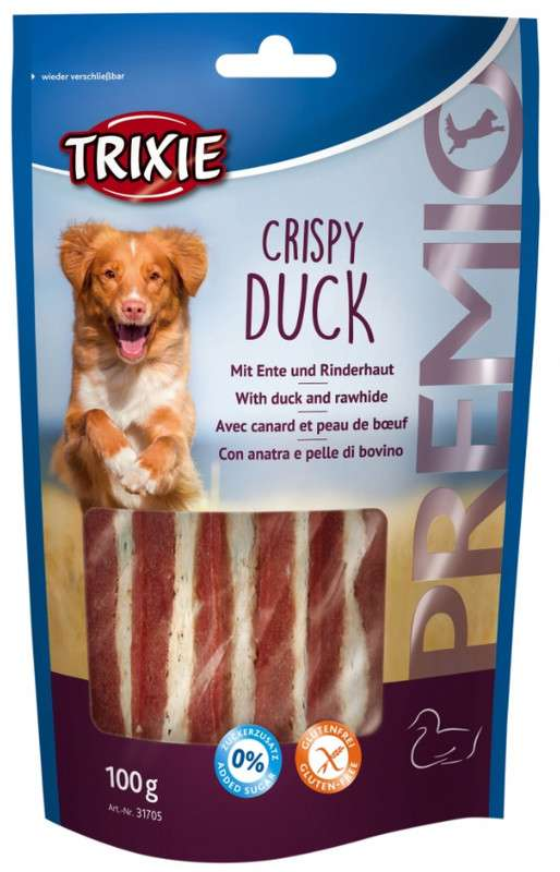 Chewing Sticks, Rolls and Strips Premio Crispy Duck 100 g  by Trixie Buy fair and favorable with a discount