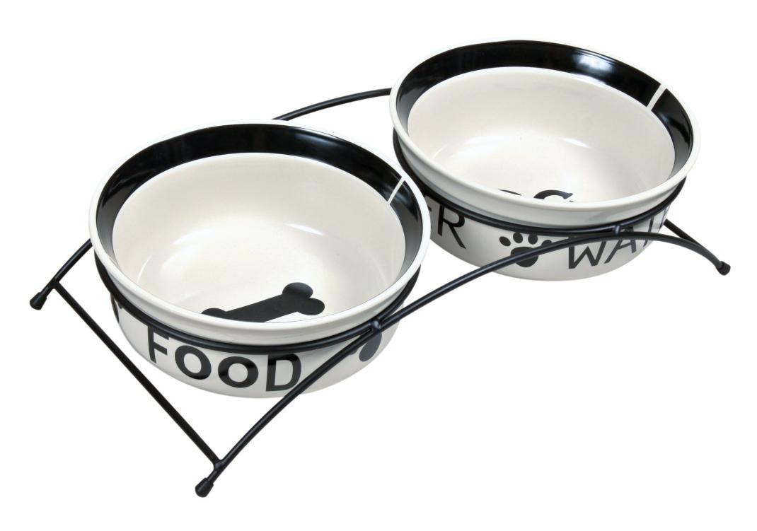 Trixie Set de Comederos Eat on Feet, Cerámica Blanco 4011905246406 opiniones
