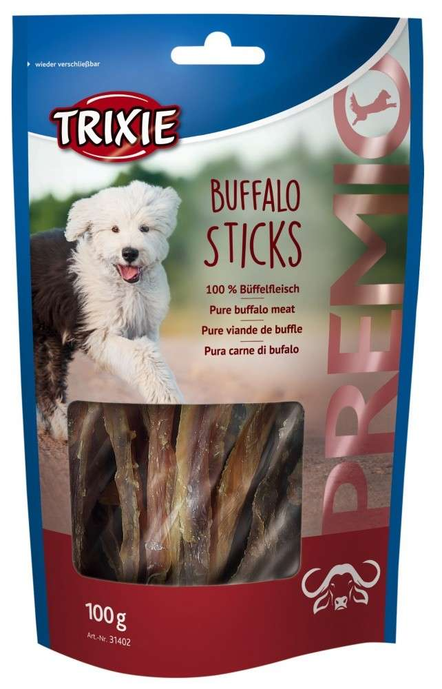 Chewing Sticks, Rolls and Strips Premio Buffalo Sticks 100g by Trixie Buy fair and favorable with a discount