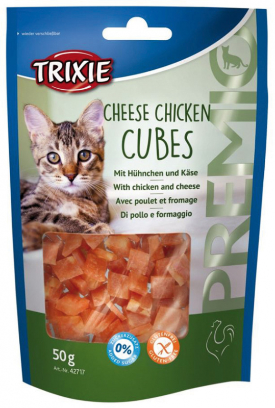 Trixie Premio Cheese Chicken Cubes con Pollo y Queso 50 g