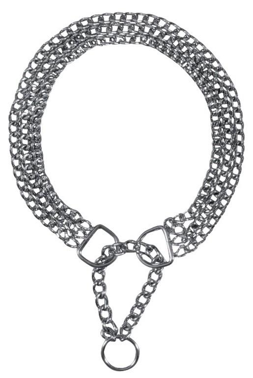 Metal Collars Semi-Choke Chain, Chromed, triple row 45x0.25cm, 50x0.25cm, 55x0.25cm by Trixie Buy fair and favorable with a discount