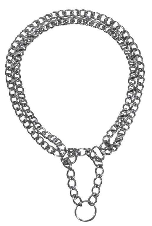 Metal Collars Semi-Choke Chain, Chromed, double row 30x0.2 cm  by Trixie Buy fair and favorable with a discount