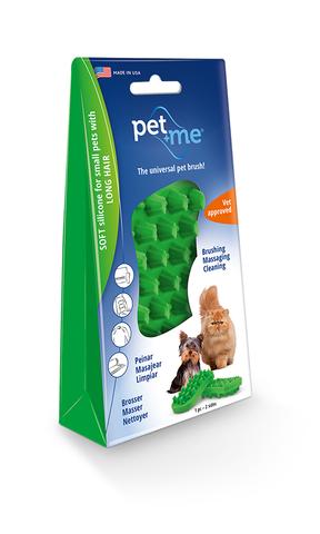 pet+me Cepillo de Silicona  Verde
