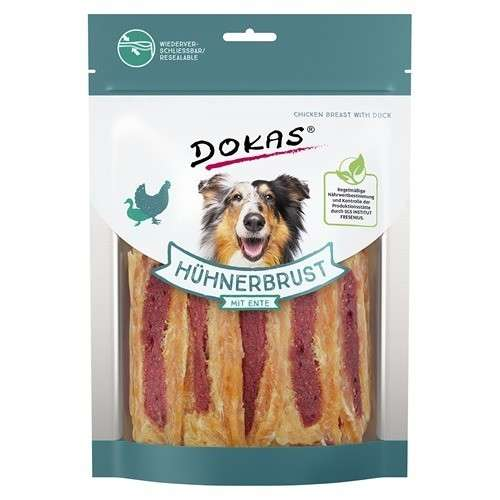 Chewing Sticks, Rolls and Strips Chicken Breast with Duck 220 g  by Dokas Buy fair and favorable with a discount