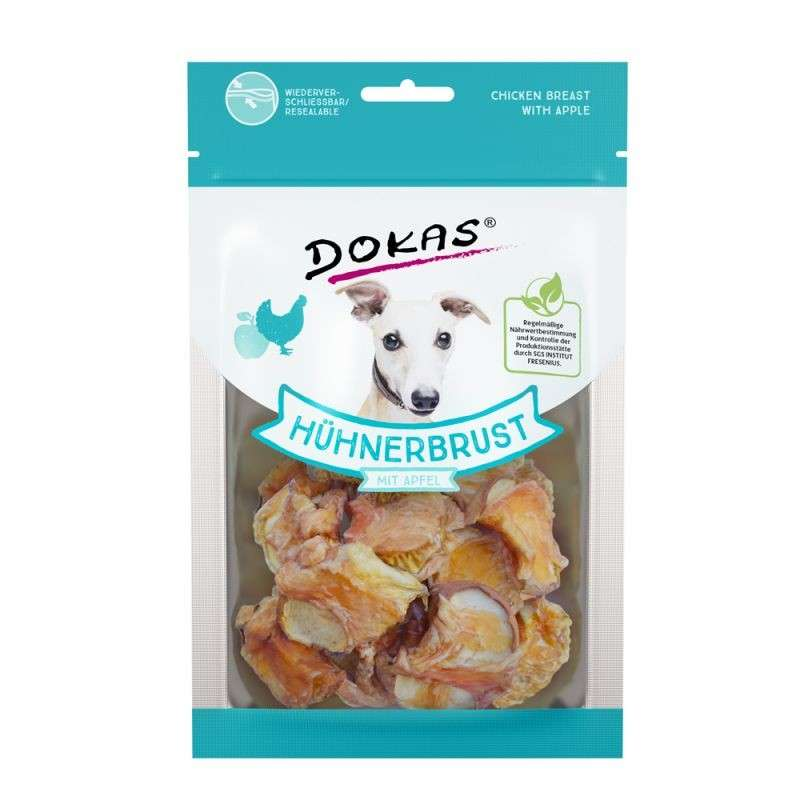 Poultry Dog Snack Chicken breast with apple 70 g  by Dokas Buy fair and favorable with a discount