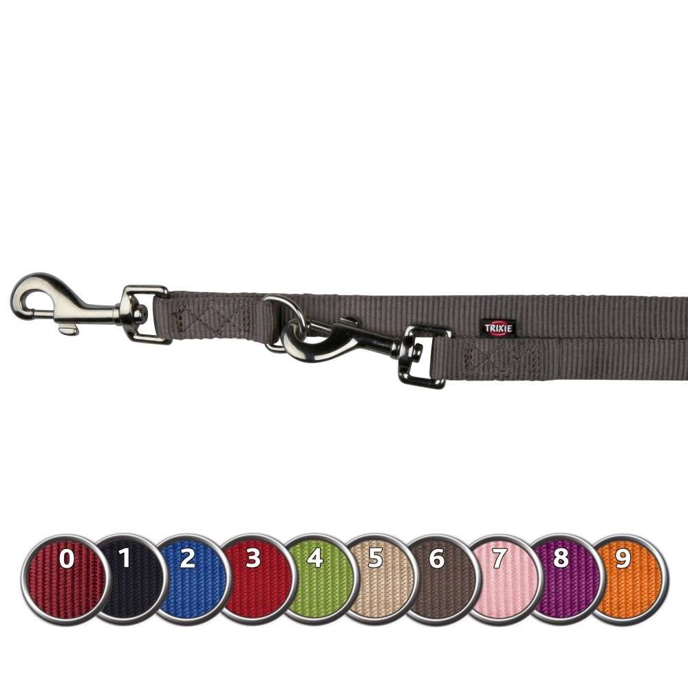Leads Premium Adjustable Dual Leash, XS-S Berry, Red, Black by Trixie Buy fair and favorable with a discount