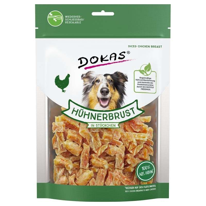 Dokas Dog Snack of Chicken Breast in Pieces 500 g, 70 g, 250 g, 200 g