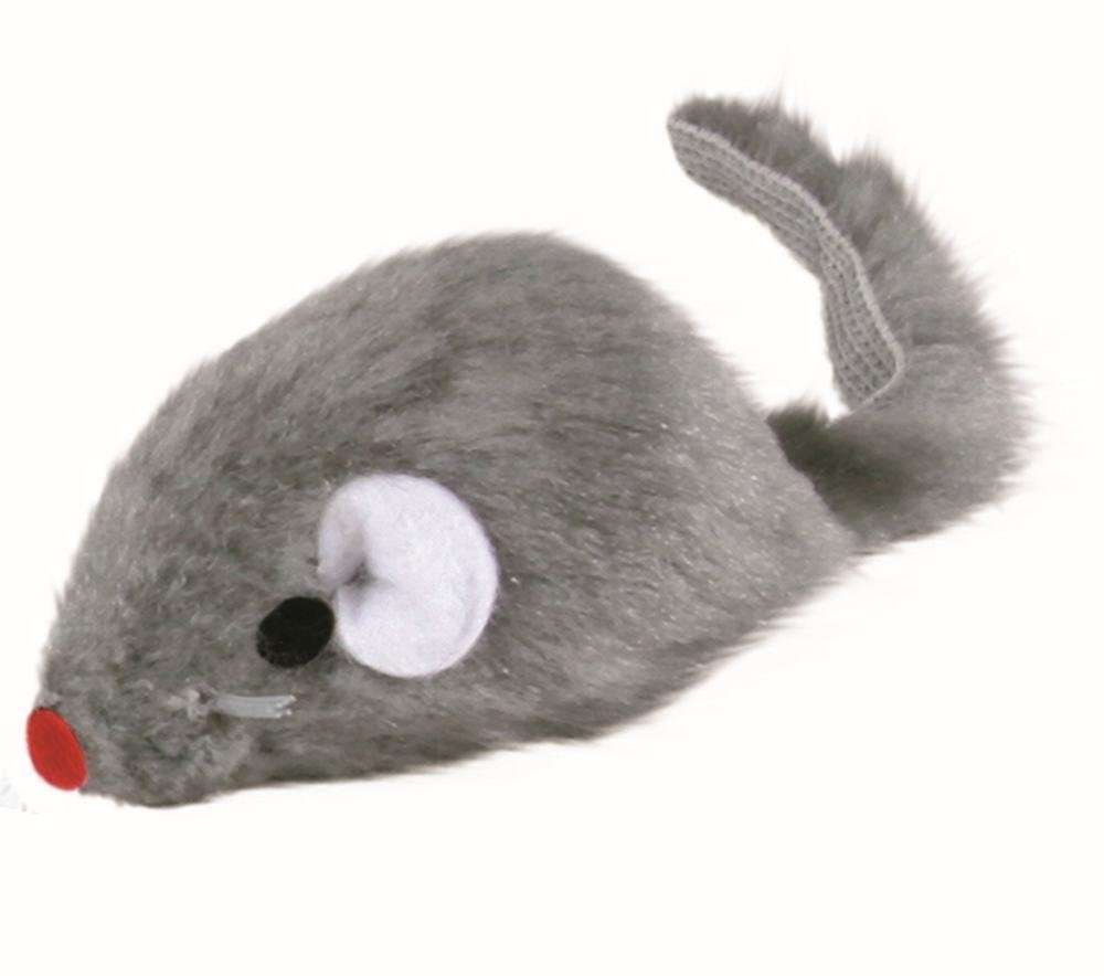 Trixie Ratón de Peluche con Cascabel, gris 5 cm