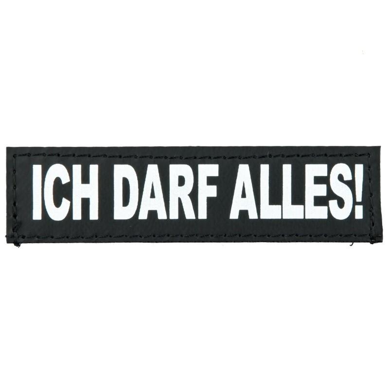 """Julius K9 Etiqueta de Velcro """"Ich Darf Alles!""""  XS ICH DARF ALLES!"""