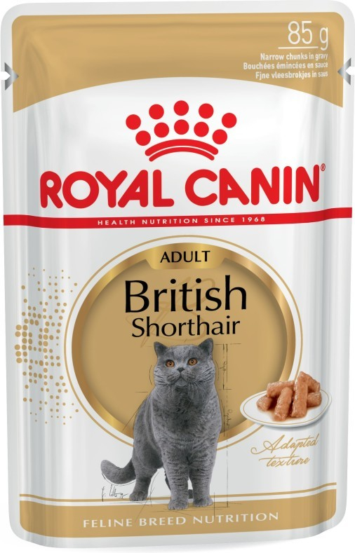 Royal Canin Feline Breed Nutrition British Shorthair Adult 85 g kjøp billig med rabatt
