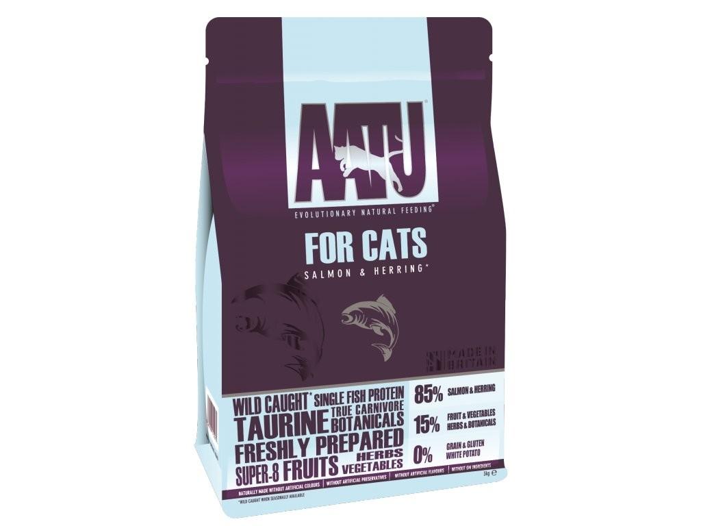 AATU Cat Dry - Saumon & Hareng 3 kg, 1 kg, 200 g essay