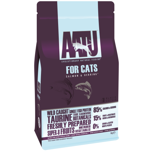 AATU Cat Dry - Saumon & Hareng 1 kg 5060189112074 avis