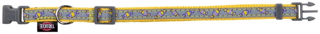Trixie Halsband met Riem, sterk reflecterend  Geel 22-33x1 cm