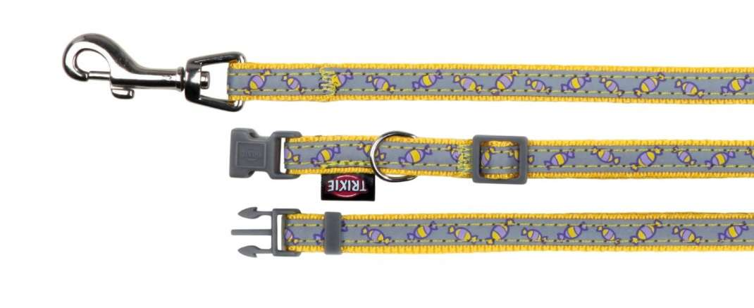 Trixie Halsband met Riem, sterk reflecterend 22-33x1 cm  met korting aantrekkelijk en goedkoop kopen