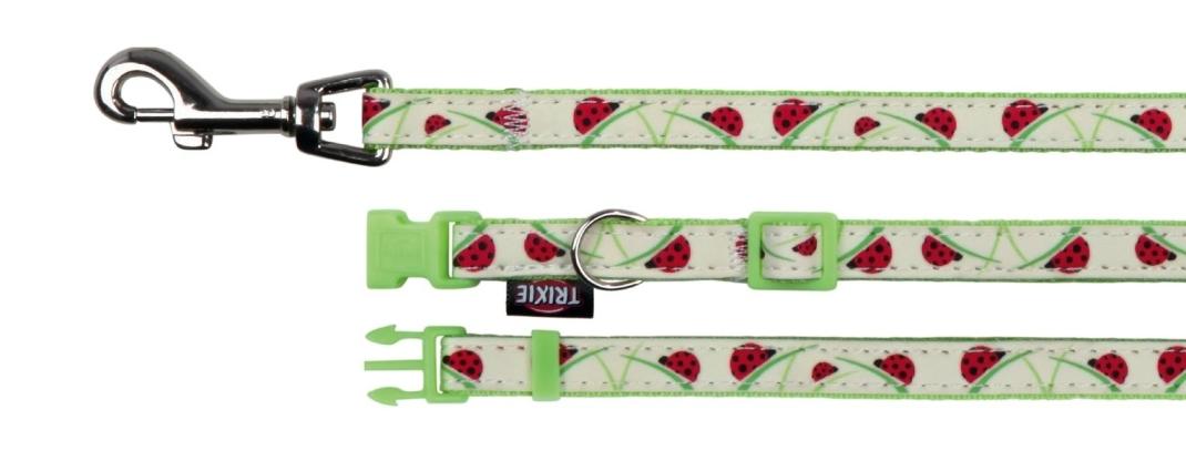Trixie Halsband met Riem Glow in the Dark 22-33x1 cm  met korting aantrekkelijk en goedkoop kopen