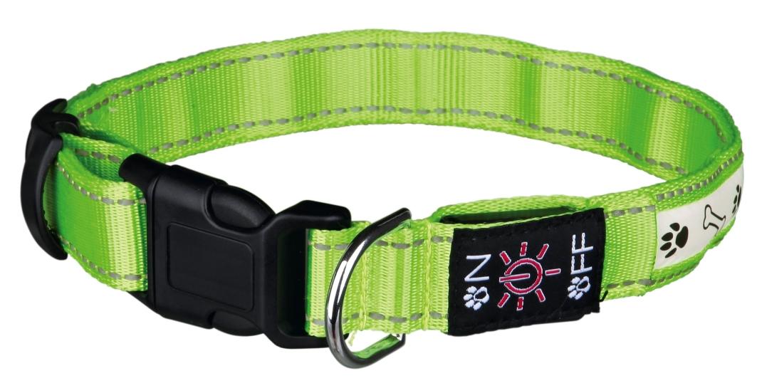 Trixie USB Flash Lichtgevende Halsband  Limoen S-M
