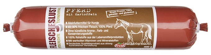 Fleischeslust Hypoallergenic Horse with potato 400 g