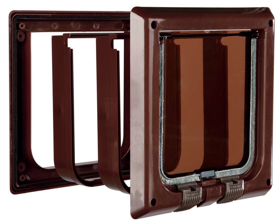 Trixie 4-Way Cat Flap with Tunnel Color Brown