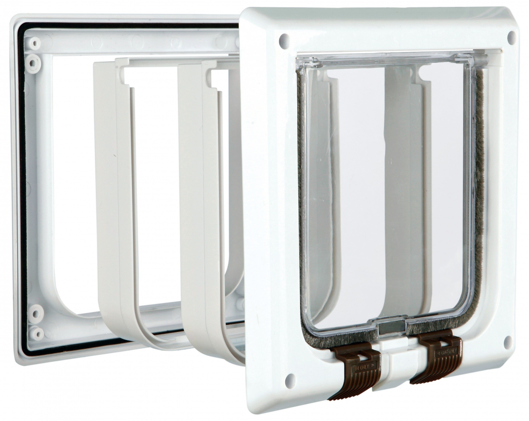 Trixie 4-Way Cat Flap with Tunnel  4-Way with Tunnel  White order cheap
