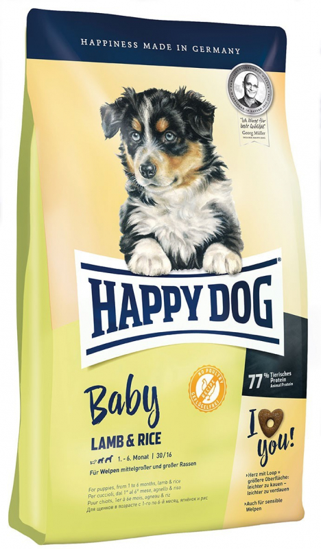 Happy Dog Supreme Young Baby met Lamb & Rice 1 kg, 10 kg, 4 kg