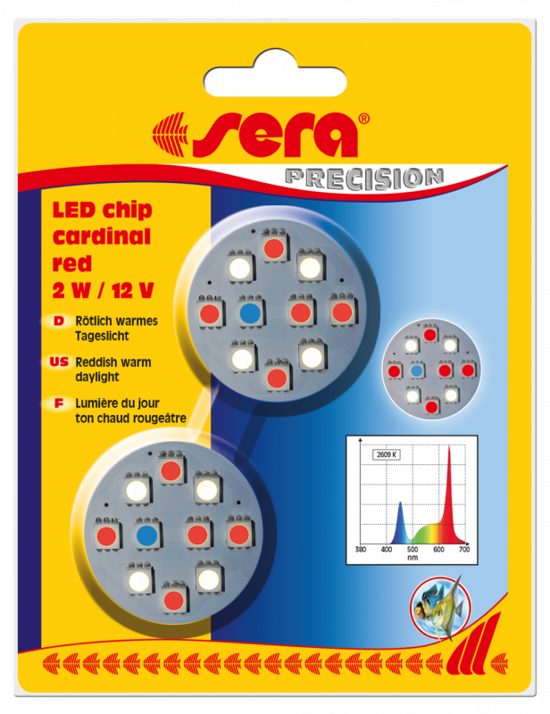 Sera LED Chips - Cardinal Red  Koraalrood