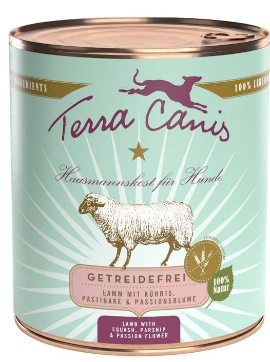 Terra Canis Grain-Free Menu, Lamb with Squash, Parsnip and Passion Flower in Can 4260109622350 kokemuksia