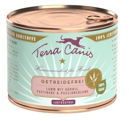 Terra Canis Grain-Free Menu, Lamb with Squash, Parsnip and Passion Flower in Can 200 g
