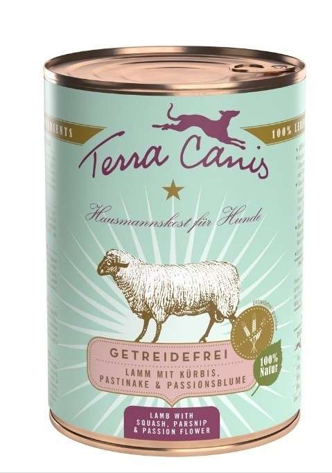Terra Canis Grain-Free Menu, Lamb with Squash, Parsnip and Passion Flower in Can 400 g
