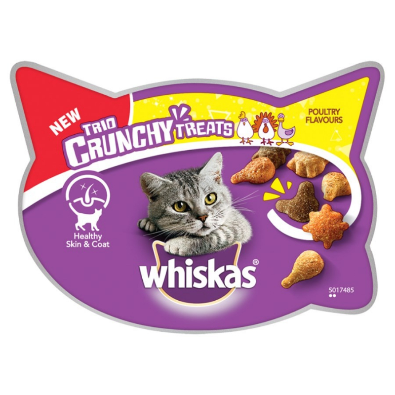 Whiskas Trio Crunchy Treats Saveur de Volaille 55 g, 66 g