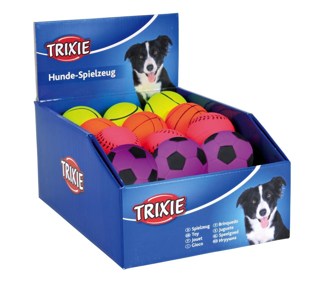 Trixie Assortiment Speelballen, schuimrubber, blijft drijven 24Stuk 4011905344317