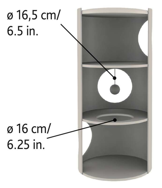 Trixie Torre Rascador Samuel  Beige  ø36/70 cm