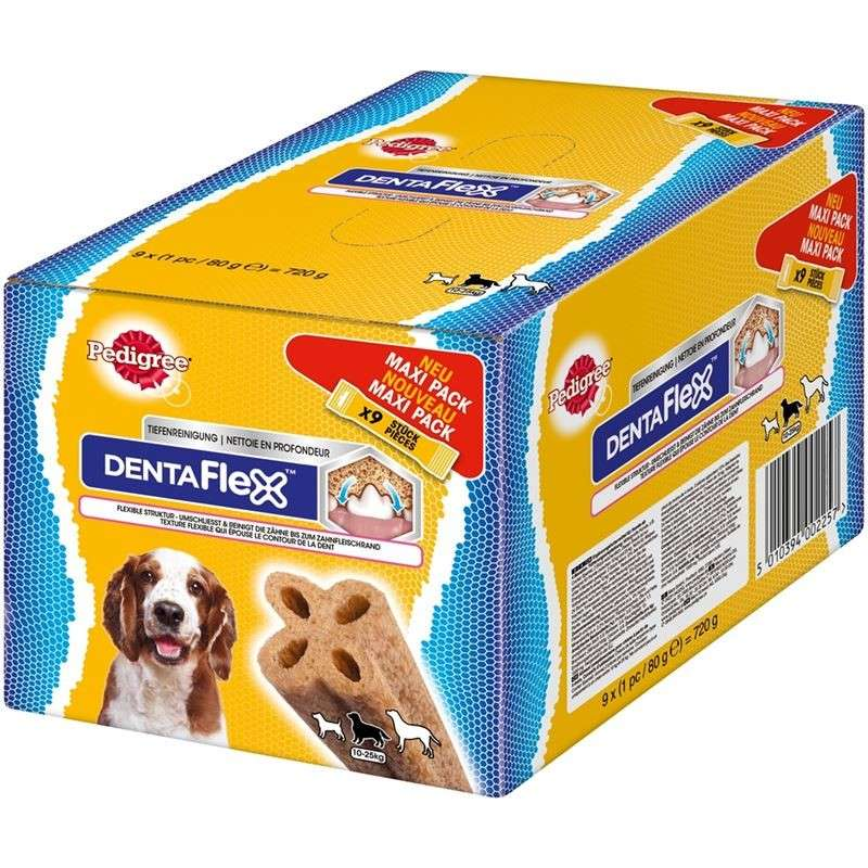 Pedigree DentaFlex Maxi Pack 9x80 g