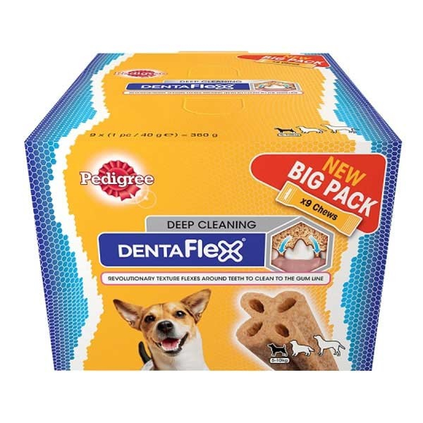 Pedigree DentaFlex Maxi Pack 9x80 g, 9x40 g, 9x120 g