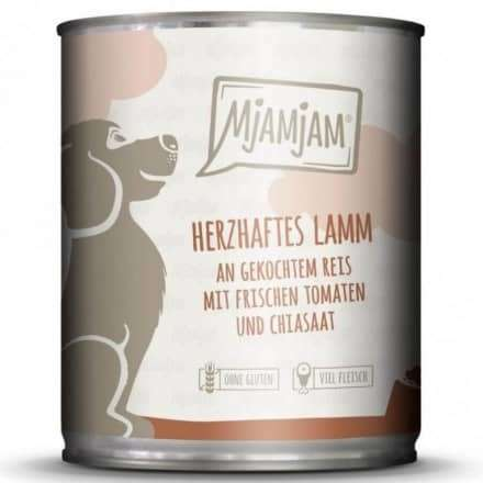 Wet dog food Hearty Lamb with Boiled Rice & Fresh Tomatoes 400 g  by MjAMjAM Buy fair and favorable with a discount