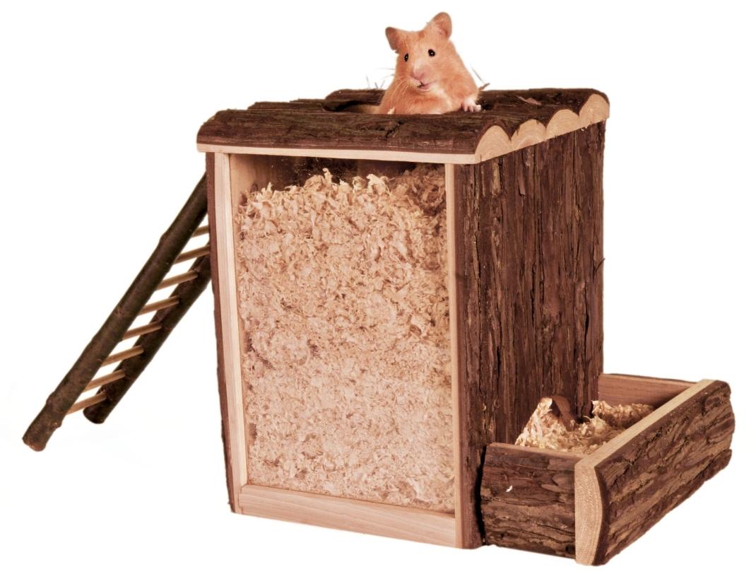 Natural Living Play and Burrow Tower 25x24x20 cm  fra Trixie kjøp billig med rabatt