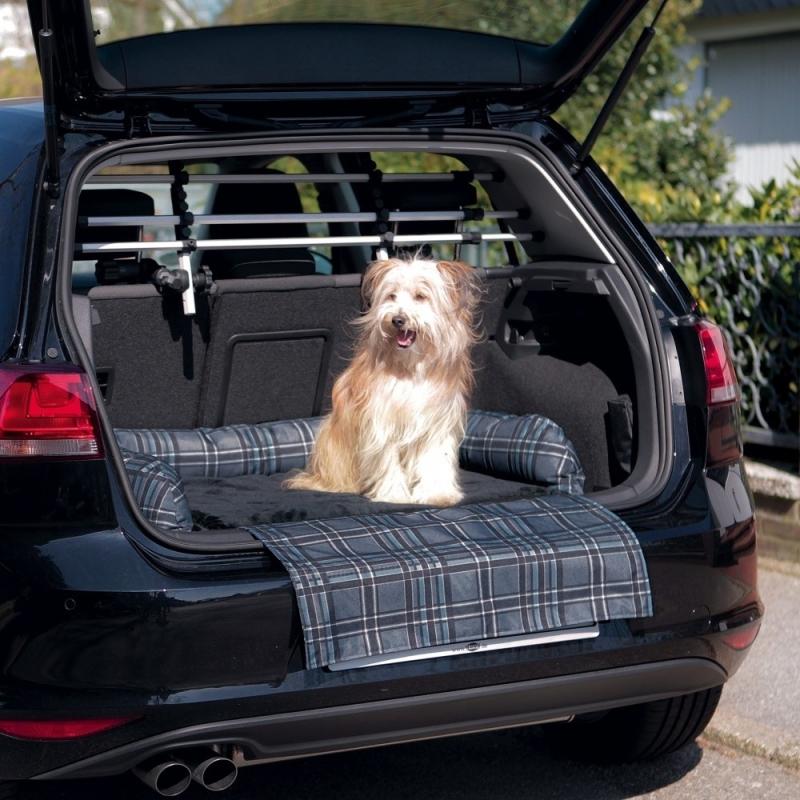 Trixie Auto-Mand, grijs/zwart  80x60 cm