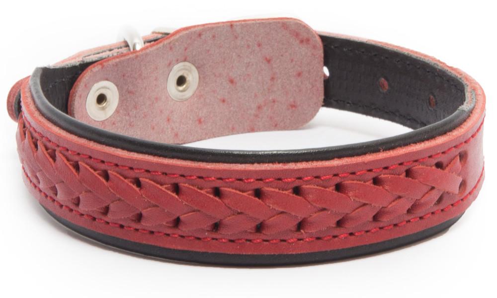 Bark&Bones Elita Collar Trenzado con Medio Ancho  Rojo 54-65х3.5 cm