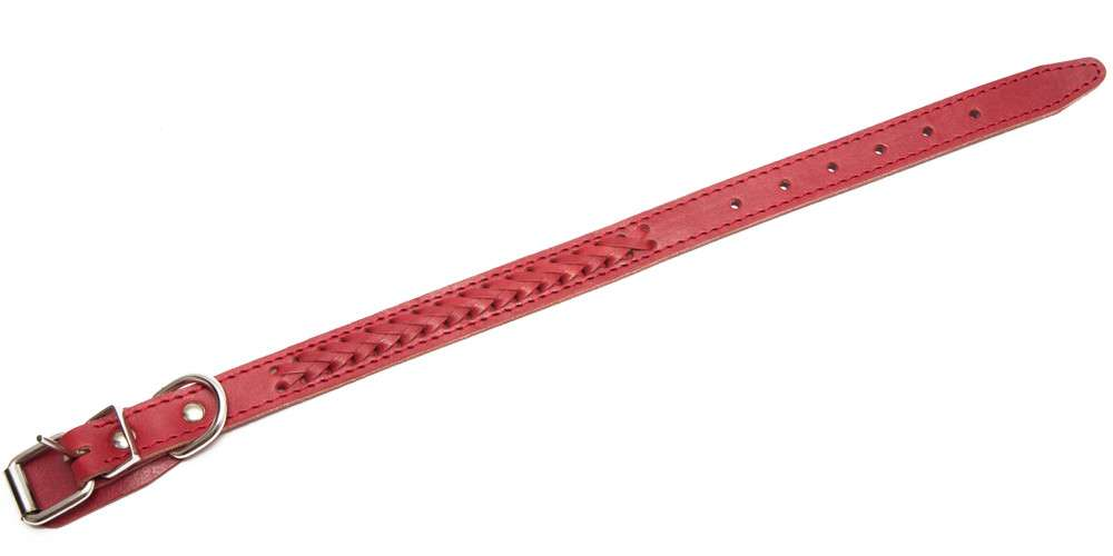 Bark&Bones Elita Collar Trenzado, Simple Rojo 36-36x2 cm