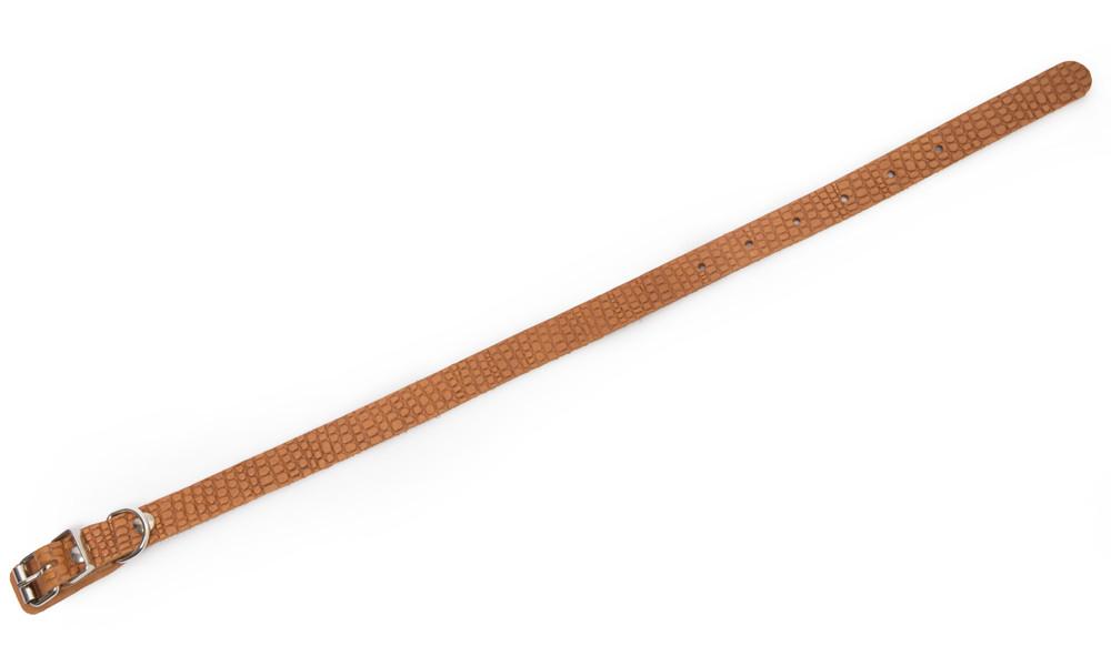 Bark&Bones Coleira de Couro com Desenho de Reptil  Laranja claro 23-33x1.4 cm
