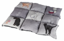 Patchwork Blanket Cat, grey 55x45 cm