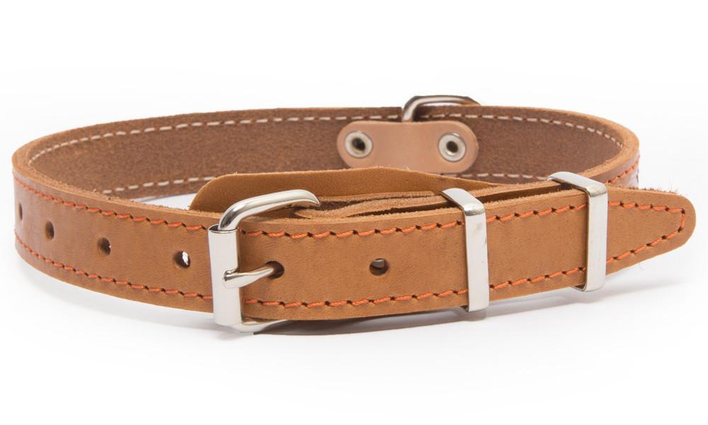 Bark&Bones Collar con Parte Trasera de Tejido y Hebilla en el Medio Naranja claro 43-58x3.5 cm