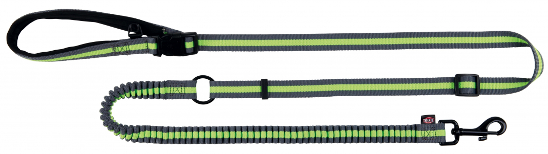 Trixie Jogging Leash, grey/green  4011905127637 anmeldelser