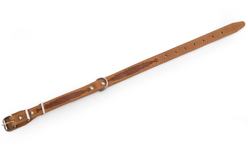 Bark&Bones Collar con Parte Trasera de Tejido y Hebilla en el Medio, M Naranja claro 33-45x2 cm