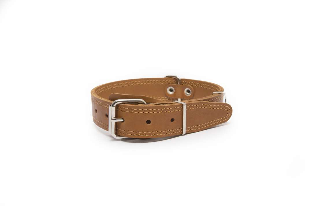 Bark&Bones Collar with Clasp, Pattern and Textile Back 43-58x3.5 cm