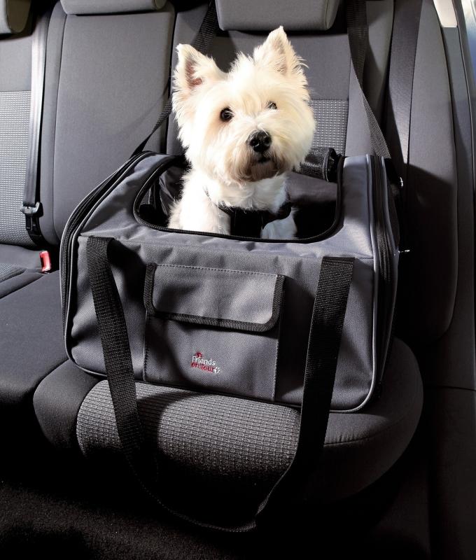 Trixie Autostoel en -tas, grijs/zwart  4011905132396