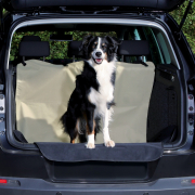 Trixie Car Boot Cover, Beige/Black 180x130 cm