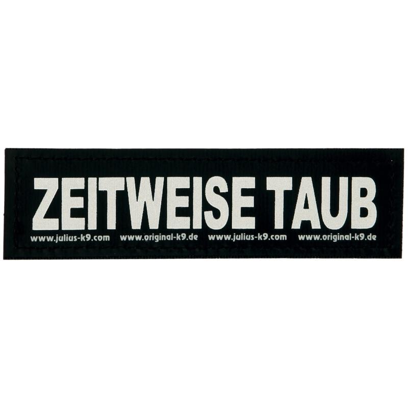 """Julius K9 Etiqueta de Velcro """"Zeitweise taub""""  S ZEITWEISE TAUB"""