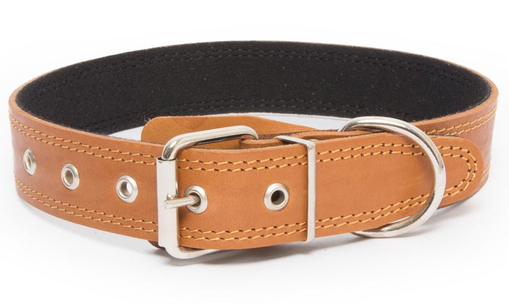 Bark&Bones Collar con Parte Trasera de Tejido con Remaches Naranja claro 40-54x2.5 cm